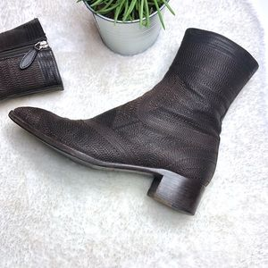 🍁Jill Sander | Embroidered Leather Boot Sz 37(7)